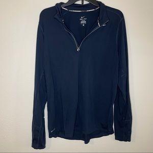 Nike Element Half-zip Long Sleeve Running Top Navy